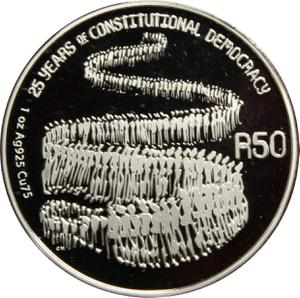 South Africa / Silver Ounce 2019 Constitutional Democracy - reverse photo