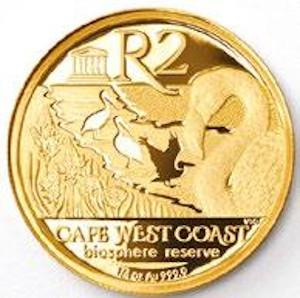 South Africa / Gold Quarter Ounce 2016 CWCBR - North - reverse photo