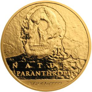 South Africa / Gold Half Ounce 2019 Paranthropus Robustus - reverse photo