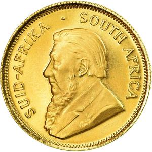 South Africa / Gold Quarter Ounce 1980 Krugerrand - obverse photo