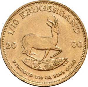 South Africa / Gold Tenth-Ounce 2000 Krugerrand - reverse photo