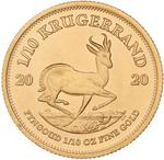 South Africa / Gold Tenth-Ounce 2020 Krugerrand - reverse photo