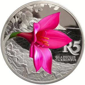 South Africa / Silver Ounce 2016 Gladiolus - reverse photo