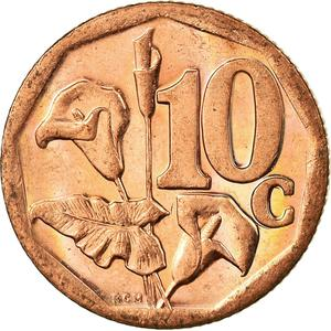 South Africa / Ten Cents 2012 - reverse photo