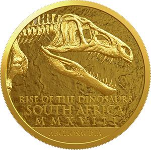 South Africa / Gold Ounce 2018 Rise of the Dinosaurs - obverse photo