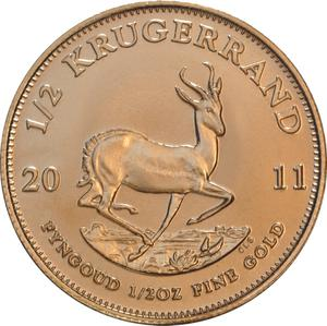 South Africa / Gold Half Ounce 2011 Krugerrand - reverse photo