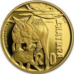 South Africa / Gold Tenth-Ounce 2015 Jackal - reverse photo