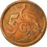 South Africa / Five Cents 1993 - reverse photo