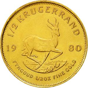 South Africa / Gold Half Ounce 1980 Krugerrand - reverse photo