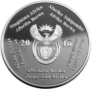 South Africa / Silver Crown 2016 Dolos - obverse photo