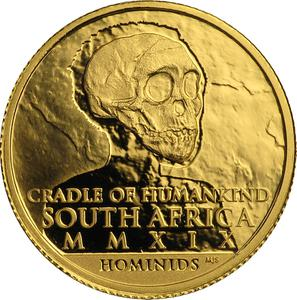 South Africa / Gold Tenth-Ounce 2019 Homo Heidelbergensis - obverse photo