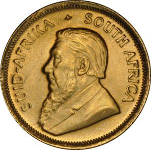 South Africa / Gold Tenth-Ounce 1991 Krugerrand - obverse photo