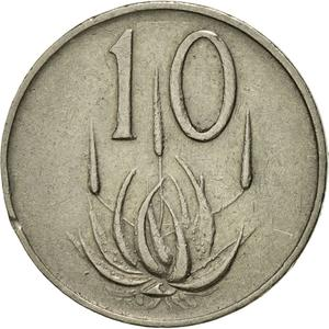 South Africa / Ten Cents 1966 (Afrikaans) - reverse photo