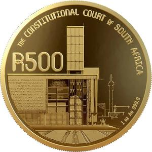 South Africa / Gold Ounce 2019 Constitutional Court - reverse photo