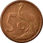 South Africa / Five Cents 2007 - reverse photo