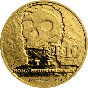 South Africa / Gold Tenth-Ounce 2019 Homo Heidelbergensis - reverse photo