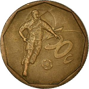 South Africa / Fifty Cents 2002 Football - reverse photo