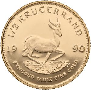 South Africa / Gold Half Ounce 1990 Krugerrand - reverse photo