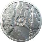 South Africa / Silver Ounce 2020 Big Five - Rhino - reverse photo