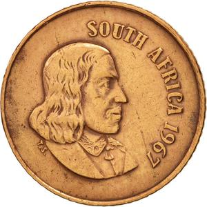 South Africa / One Cent 1967 (English) - obverse photo