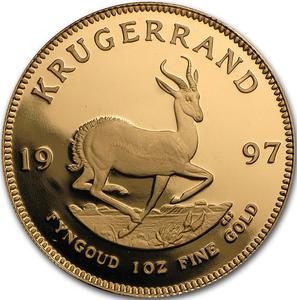 South Africa / Gold Ounce 1997 Krugerrand - reverse photo