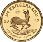 South Africa / Gold Quarter Ounce 2017 Krugerrand - reverse photo