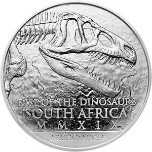 South Africa / Silver Ounce 2019 Rise of the Dinosaurs - obverse photo