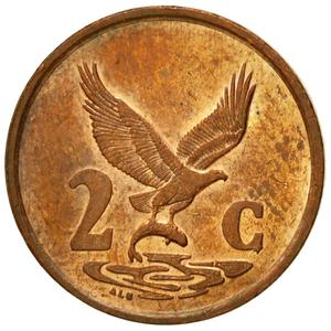 South Africa / Two Cents 2000 (Old CoA) - reverse photo
