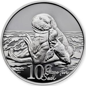 South Africa / Silver Half Ounce 2015 Fur Seal - reverse photo