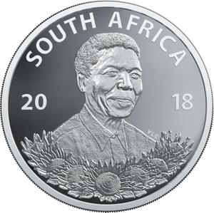South Africa / One Rand, Silver - Protea - obverse photo