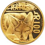 South Africa / Gold Ounce 2015 Jackal - reverse photo