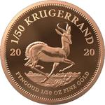South Africa / Gold Fiftieth-Ounce 2020 Krugerrand - reverse photo