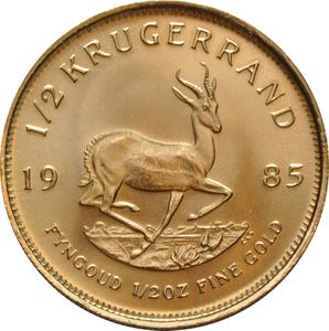 South Africa / Gold Half Ounce 1985 Krugerrand - reverse photo
