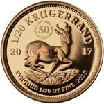 South Africa / Gold Twentieth-Ounce 2017 Krugerrand - reverse photo