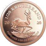 South Africa / Gold Twentieth-Ounce 2020 Krugerrand - reverse photo