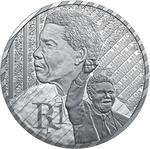 South Africa / Silver Rand 2018 Nelson Mandela - reverse photo