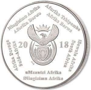 South Africa / Silver Crown 2018 FIFA World Cup - obverse photo