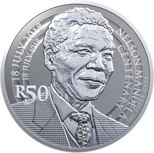 South Africa / Silver Ounce 2018 Nelson Mandela Centenary - reverse photo