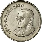 South Africa / Five Cents 1968 Swart (Afrikaans) - obverse photo