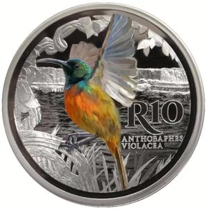 South Africa / Silver Ounce 2016 Sunbird - reverse photo