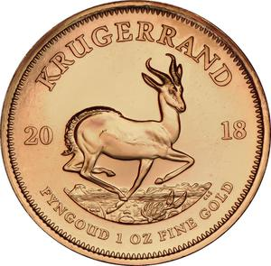 South Africa / Gold Ounce 2018 Krugerrand - reverse photo