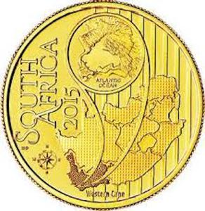 South Africa / Gold Quarter Ounce 2015 KBR - Species - obverse photo