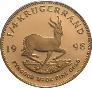 South Africa / Gold Quarter Ounce 1998 Krugerrand - reverse photo