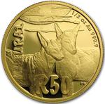 South Africa / Gold Half Ounce 2015 Jackal - reverse photo