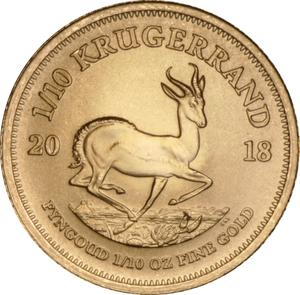 South Africa / Gold Tenth-Ounce 2018 Krugerrand - reverse photo