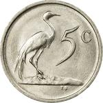 South Africa / Five Cents 1986 - reverse photo