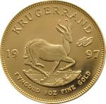 South Africa / Gold Ounce 1997 Krugerrand / Proof with 30th anniversary privy mark - reverse photo