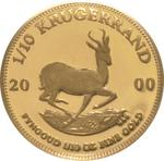 South Africa / Gold Tenth-Ounce 2000 Krugerrand / Proof - reverse photo