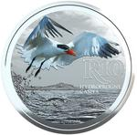 South Africa / Silver Ounce 2017 Caspian Tern - reverse photo