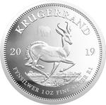 South Africa / Silver Ounce 2019 Krugerrand / Proof with Elephant privy mark - reverse photo